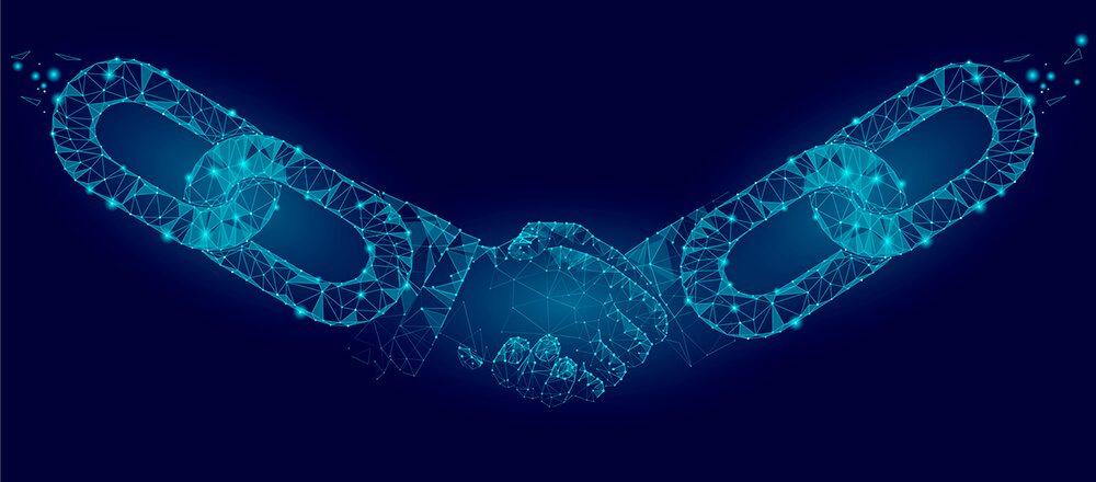 Poignée de main Blockchain