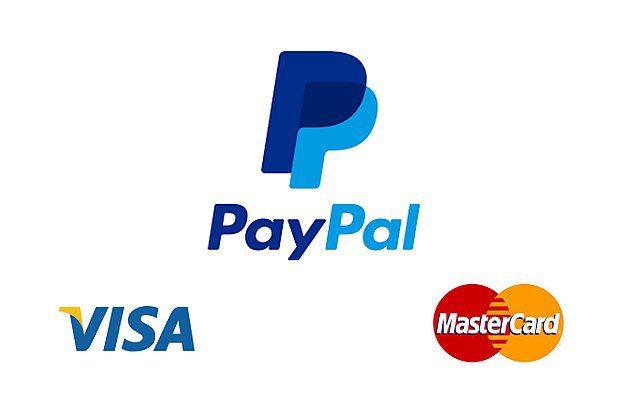 Visa PayPal Mastercard