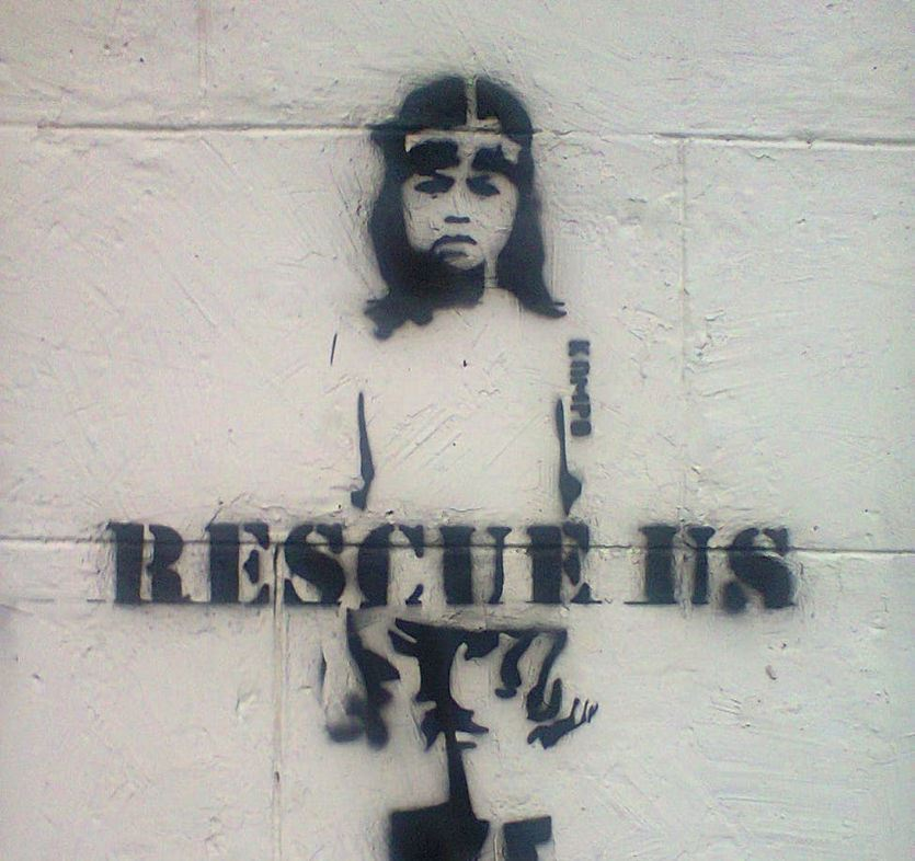 Rescue children graffiti
