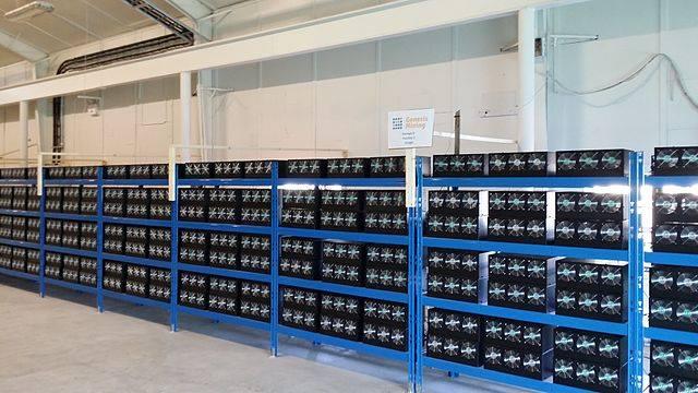 Bitcoin mining hall