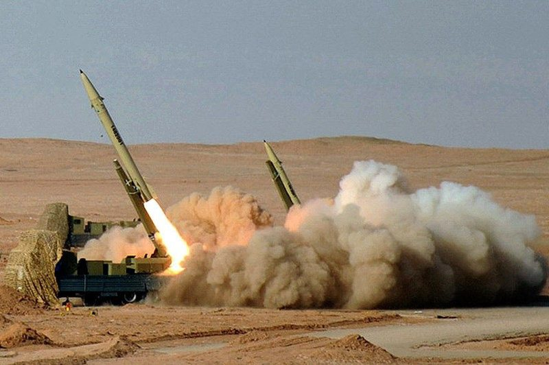 Missile launch desert