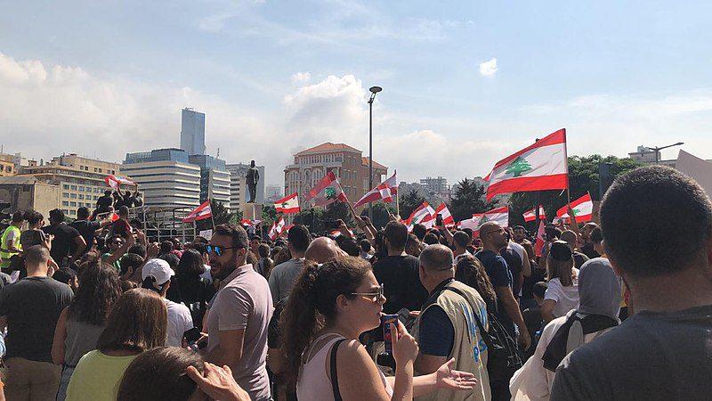 Lebanese crowd