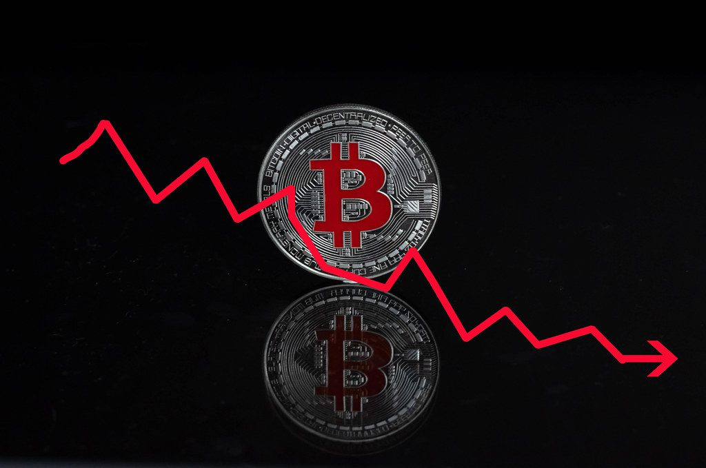 Bitcoin plunge red