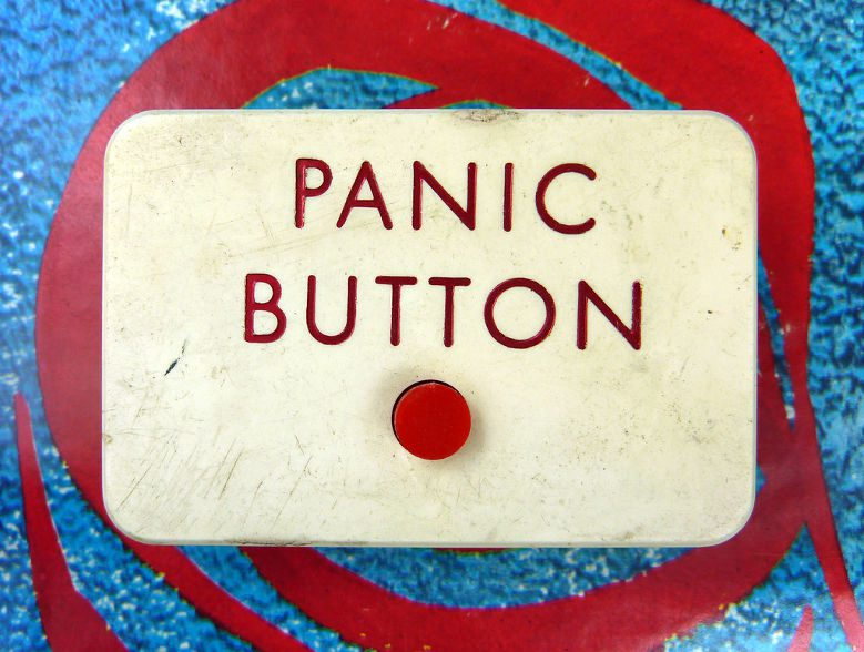 Panic button red