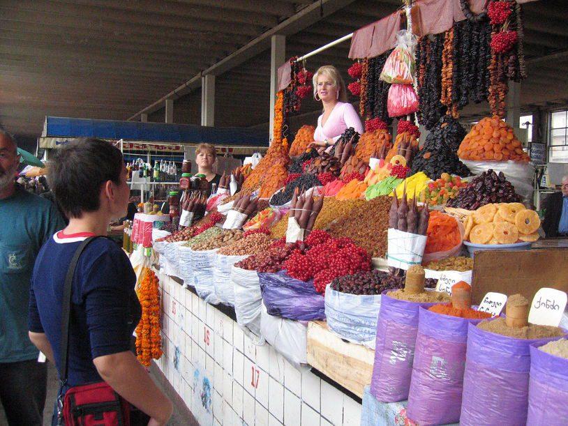 Outdoor food market