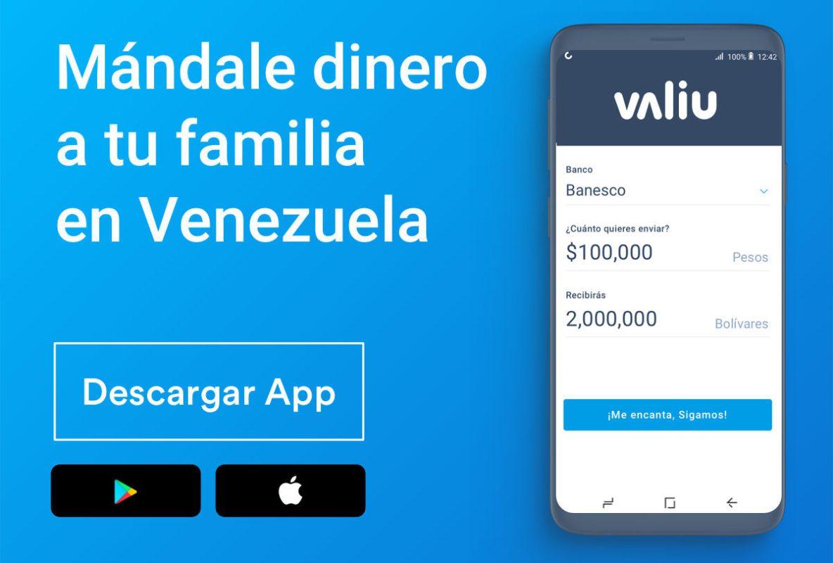 Valiu app on phone