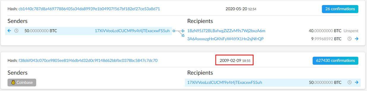 50 BTC transaction details
