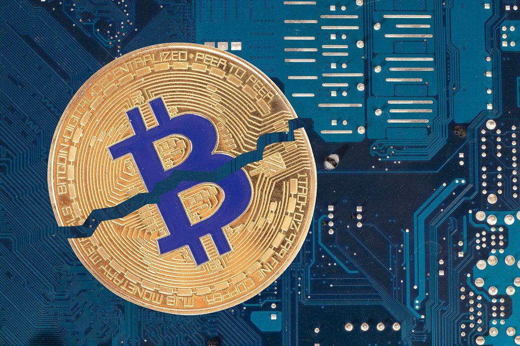 Bitcoin halving blue