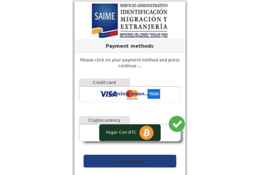 Venezuela immigration service